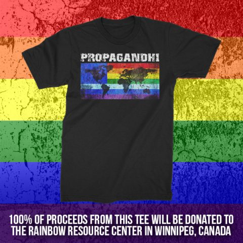 Rainbow Resource Center Fundraising Shirt - Propagandhi Rainbow Resource Center
